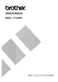 Service Manual Brother PT-2500PC