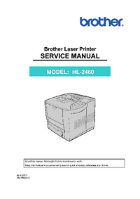 Service Manual Brother HL-2460