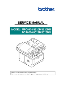 Manual de servicio Brother MFC8420