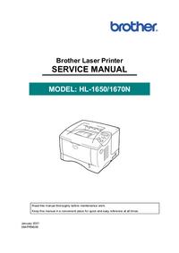 Manual de servicio Brother HL-1670N