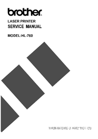 Manual de servicio Brother HL-760