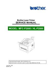 Manual de servicio Brother MFC-P2500