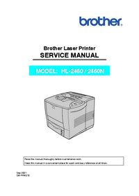Service Manual Brother HL-2460N