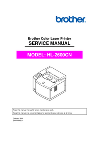 Servicehandboek Brother HL-2600CN