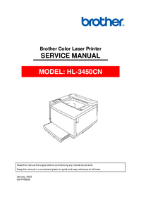Manual de servicio Brother HL-3450CN