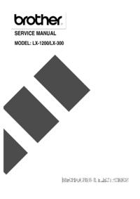 Manual de serviço Brother LX-300
