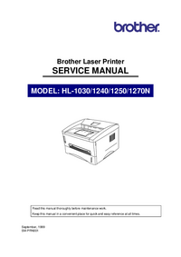Servicehandboek Brother HL-1240
