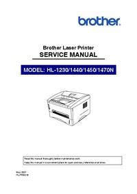 Руководство по техническому обслуживанию Brother HL-1440