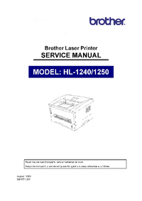 Manual de servicio Brother HL-1250