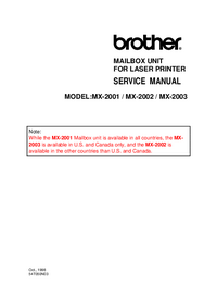 Manual de servicio Brother MX-2003