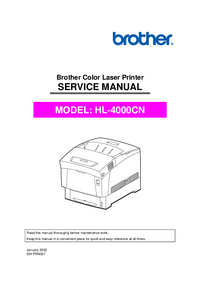 Service Manual Brother HL-4000cn