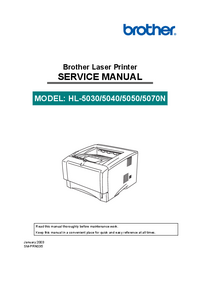 Manual de servicio Brother HL-5030