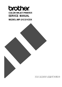 Manual de servicio Brother MP-21CDX