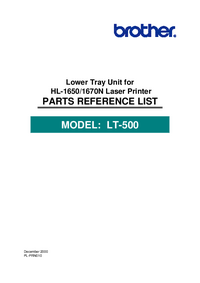 Part List Brother LT-500