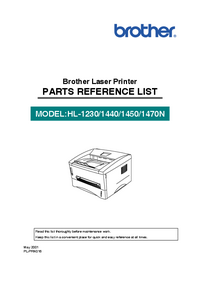 Part List Brother HL-1440