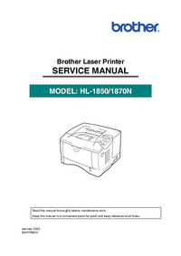 Manual de servicio Brother HL-1850