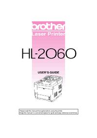 Manuel de l'utilisateur Brother HL-2060