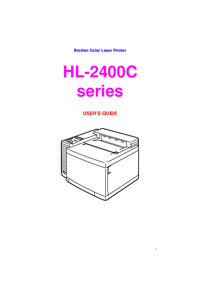 Manual del usuario Brother HL-2400C series