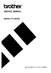 Service Manual Brother PT-550