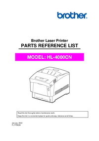 Part List Brother ĤL-4000CN
