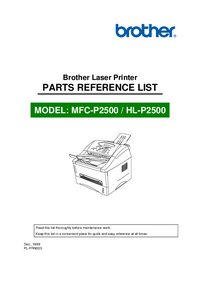 Part List Brother MFC-P2500