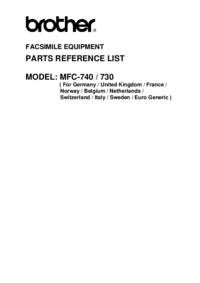 Part List Brother MFC-740