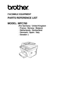 Liste des pièces Brother MFC760