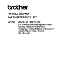 Part List Brother MFC9180