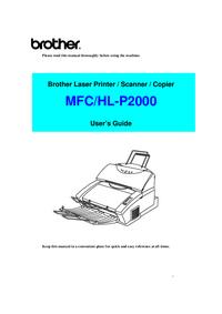 Manuel de l'utilisateur Brother HL-P2000