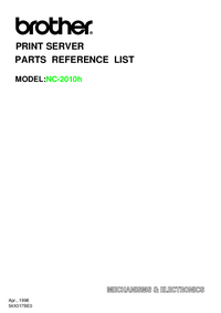 Part List Brother NC-2010h