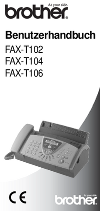 Manual del usuario Brother FAX-T104