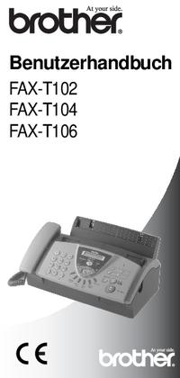 Gebruikershandleiding Brother FAX-T102