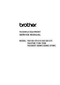 Servicehandboek Brother Fax100
