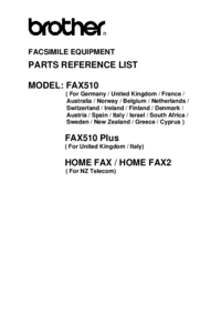 Part List Brother Home Fax2 (NZ Telecom)