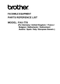 Part List Brother Fax-T78