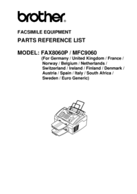 Part List Brother MFC9060
