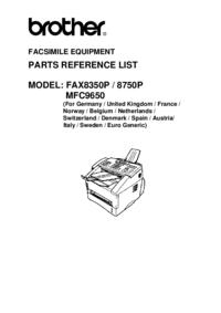 Deel Lijst Brother Fax8350P