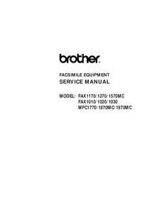 Servicehandboek Brother Fax1020