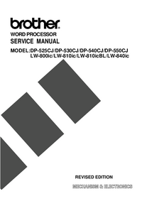 Manual de servicio Brother LW-810icBL