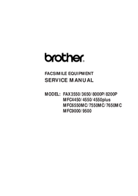 Serviceanleitung Brother FAX8000P