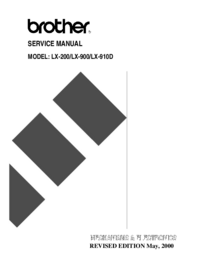 Service Manual Brother LX-200