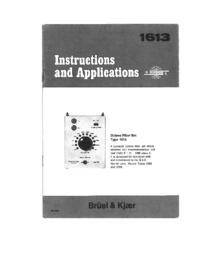Manuale d'uso BruelKJAER 1613