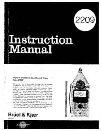 Manual del usuario BruelKJAER 2209