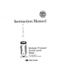 Manual do Usuário BruelKJAER BZ 7110