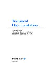 Manual do Usuário BruelKJAER 2238