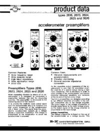 Fiche technique BruelKJAER 2616