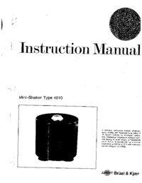 User Manual BruelKJAER 4810