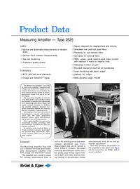 folha de dados BruelKJAER 2525