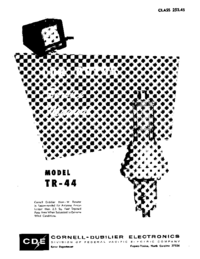 Service Manual CDE TR-44