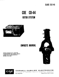 Manuale d'uso CDE CDE CD-44